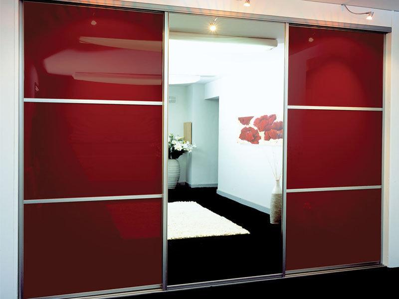 Купить двери купе для шкафов со стеклом лакобель недорого в .