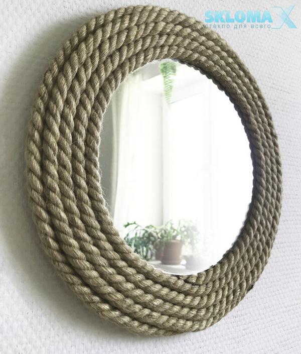Рамка для зеркала из веревки