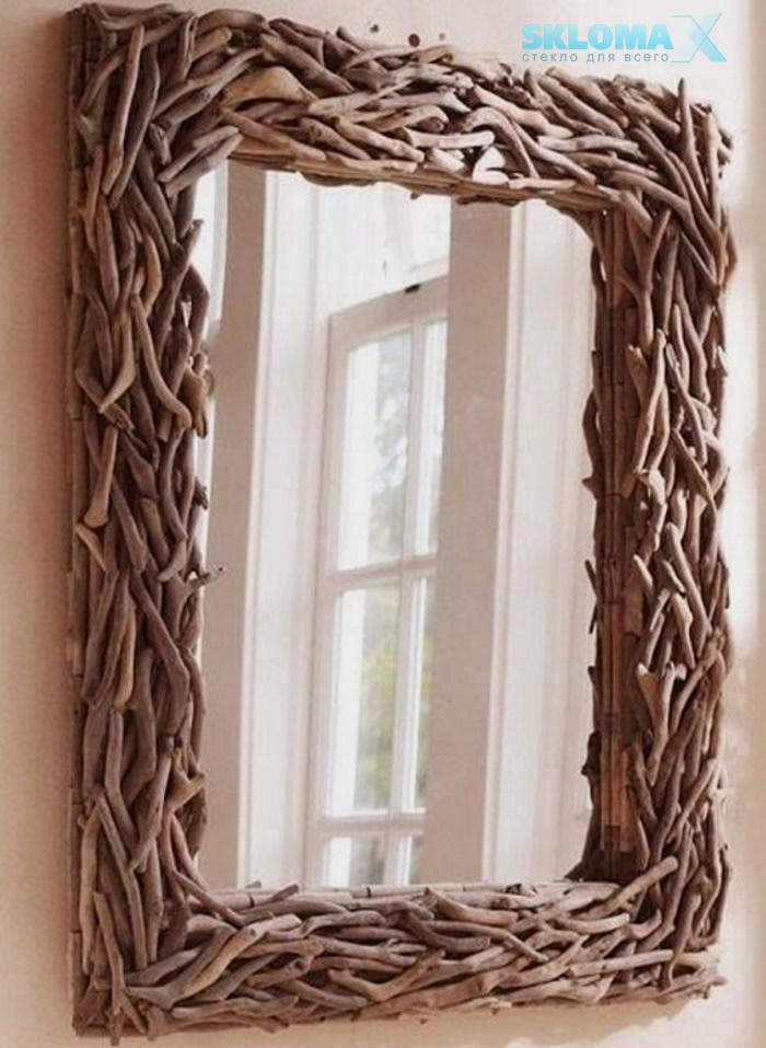 Рамка для зеркала из веток