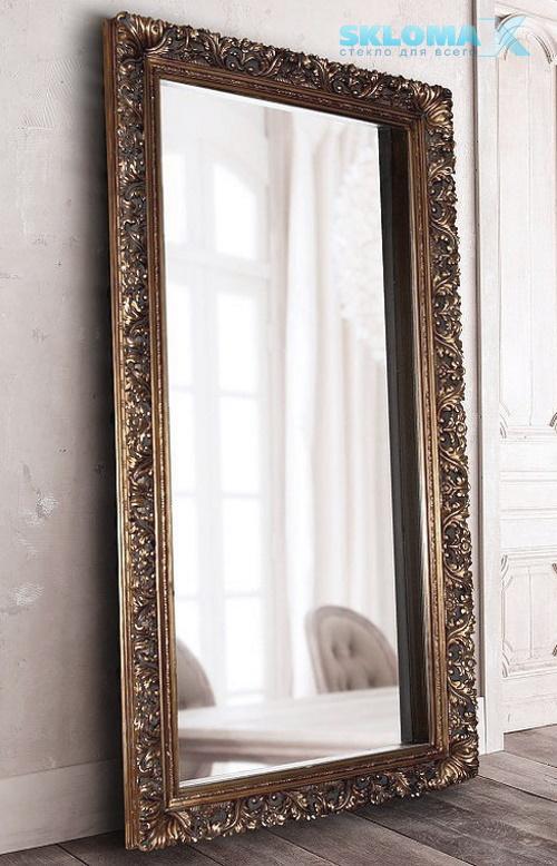 Рамка для зеркала из потолочного плинтуса