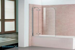 Стеклянная шторка для ванной Фото