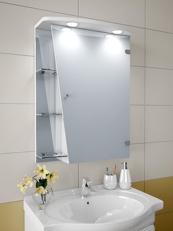 Навесные шкафчики для ванной комнаты с зеркалом своими руками